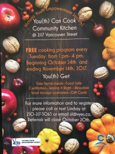 Community Kitchen Poster 2 October 2017_