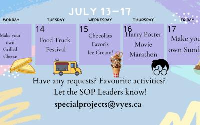 Summer Opportunities Weekly Schedule